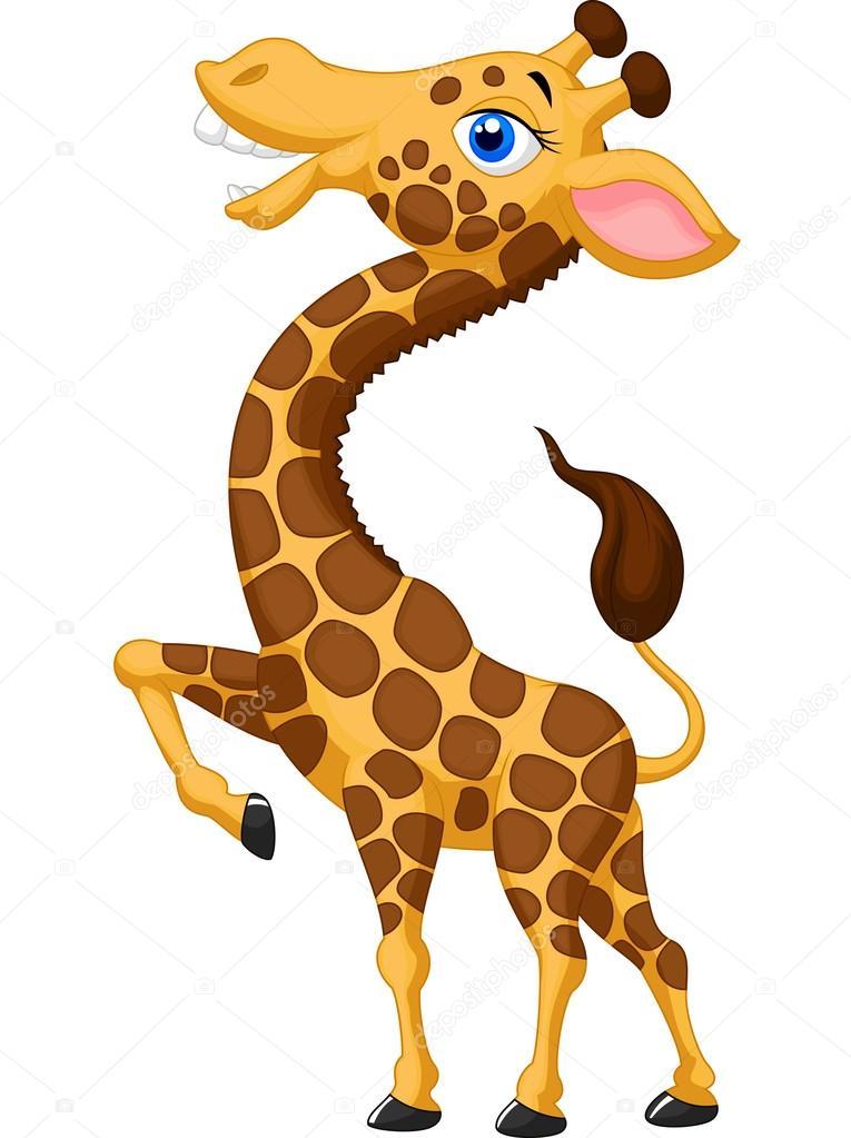 Cartone animato carino giraffa — vettoriali stock