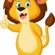 Cute lion giving thumb up — Stock Vector #35750079