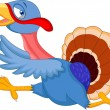 Vettoriale Stock : Cartoon turkey running
