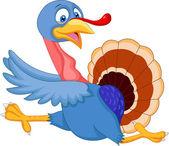 Cartoon turkey running — Stock Vector
