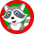 Cute raccoon — Stock Vector