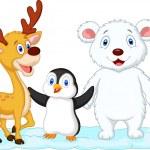 Cute animal cartoon — Stock Vector