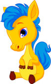 Baby horse cartoon — Stock Vector