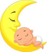 Cute baby sleeping — Stock Vector