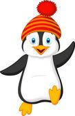 Roztomilý tučňák kreslený — Stock vektor