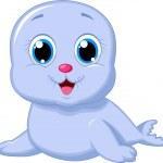 Cute baby seal — Stock Vector