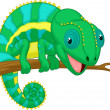 Stock Vector: Cute chameleon