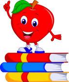 Cute apple cartoon — Stock Vector