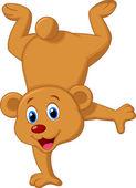 Brown bear cartoon — Stock Vector