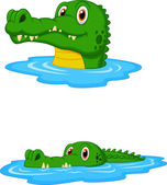 Cute crocodile cartoon — Stock Vector