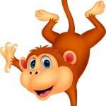 Cute monkey cartoon — Stock Vector