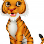 Cute tiger cartoon sitting — Stock Vector #37157615