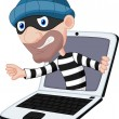 Stock Vector: Computer crime