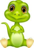 Cute baby dinosaur — Stock Vector
