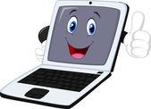 Cartoon laptop — Stock Vector