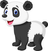 Cute panda bear cartoon — Stock Vector