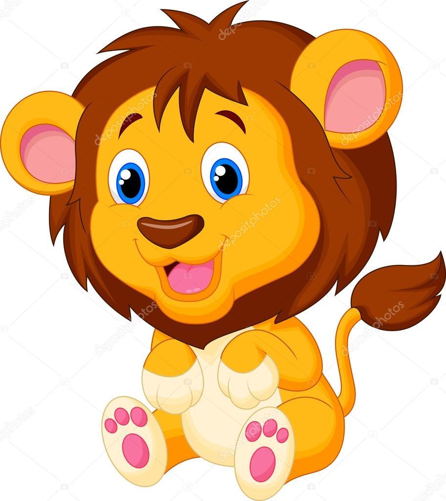 可爱的狮子 - 图库插图