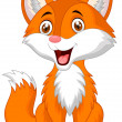 Cute fox cartoon — Stock Vector #42240339
