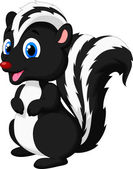 Cute skunk cartoon — Stock Vector