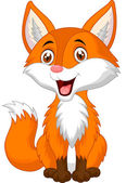 Cute fox cartoon — Stock Vector