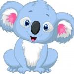 Cute koala cartoon — Stock Vector