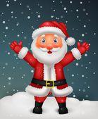 Cute Santa cartoon waving hand — Stock Vector