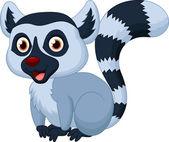 Cute lemur cartoon — Stock Vector