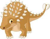 Cute ankylosaurus — Stock Vector
