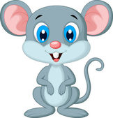 Cute mouse cartoon — Stock Vector