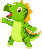 Süßes baby stegosaurus cartoon — Stockvektor