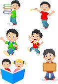 Happy school children — Stock Vector