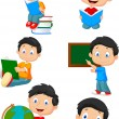 School boy — Stock Vector