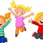 Happy kids cartoon — Stock Vector #44718397