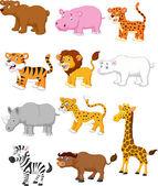 Wild animal set — Stock Vector