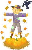 Scarecrow cartoon — Stock Vector