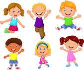 Happy kids cartoon — Stock Vector