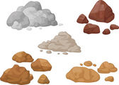 Stone and rock collection — Stock Vector