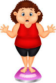 Tlustá žena — Stock vektor