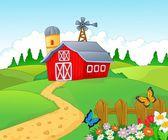 Empty farm — Stock Vector