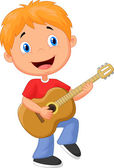 Boy playing guitar — Stock Vector