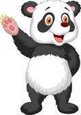 Panda waving hand — Stock Vector