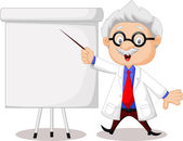 Professor teaching — Stock Vector