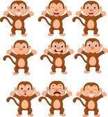 Cute monkeys — Stock Vector