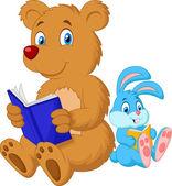 Bear and rabbit — Stock Vector