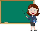 Female teacher — Stock Vector
