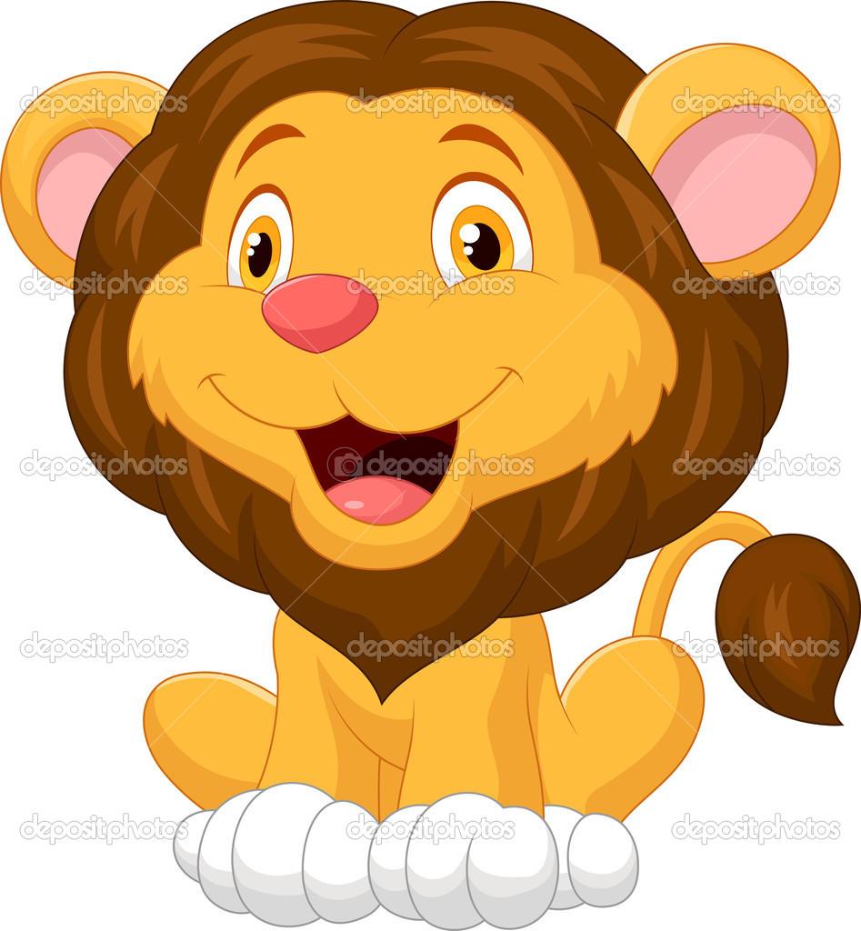 可爱狮子卡通 — 矢量图片作者