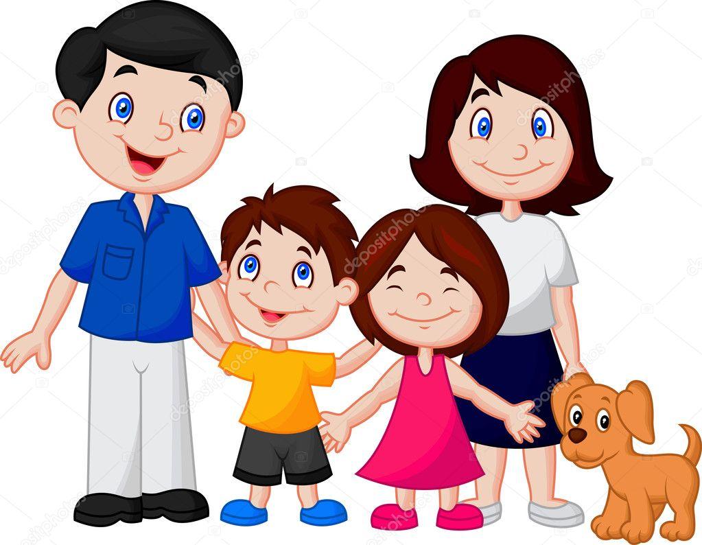 Dibujos Animados Familia Feliz
