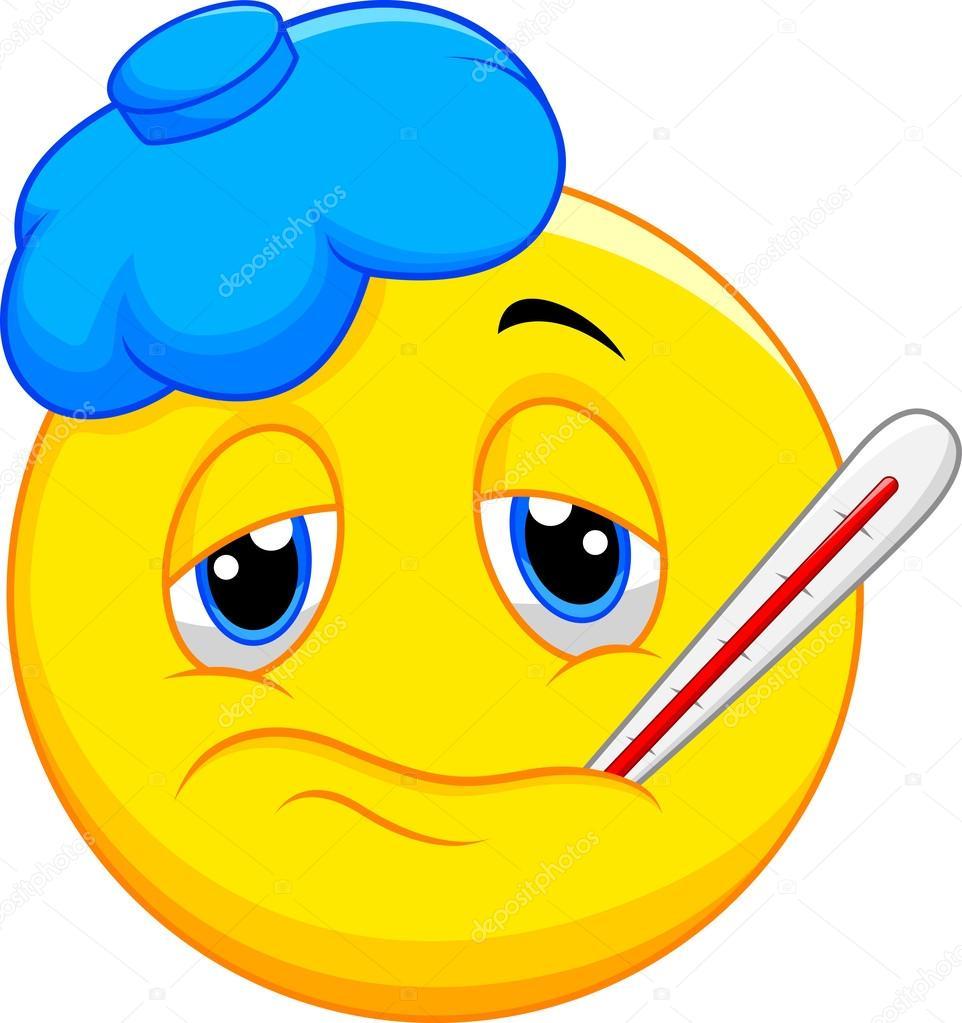 Sick emoticon — Stock Vector © tigatelu #44737445