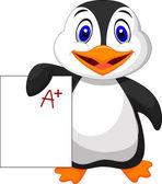 Roztomilý tučňák — Stock vektor