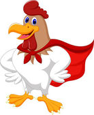Super rooster — Stock Vector